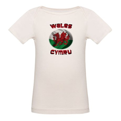 Wales Cymru Organic Baby T-Shirt