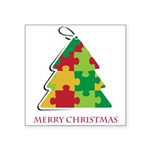Merry Christmas and Happy New Year Square Sticker