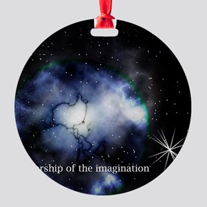 Starship of the Imagination Round Ornament