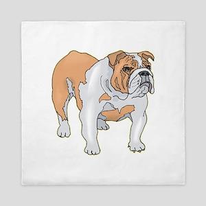 english-bulldog4 Queen Duvet