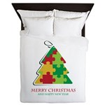 Merry Christmas and Happy New Year Queen Duvet
