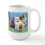Cats Gone Wild Large Mug