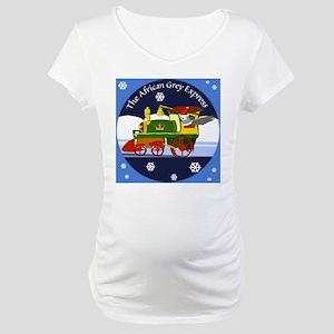 African Grey Express Maternity T-Shirt