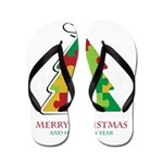 Merry Christmas and Happy New Year Flip Flops