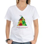 Merry Christmas and Happy New Year Women's V-Neck