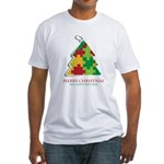 Merry Christmas and Happy New Year Fitted T-Shirt