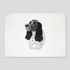 english-setter,png 5'x7'Area Rug