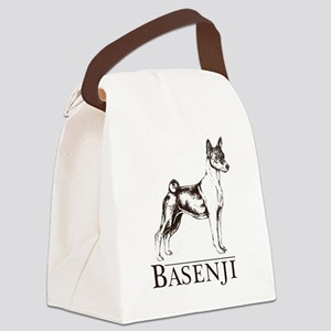 Basenji white Canvas Lunch Bag