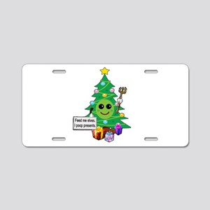 Feed Me Elves Aluminum License Plate