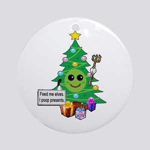 Feed Me Elves Ornament (Round)