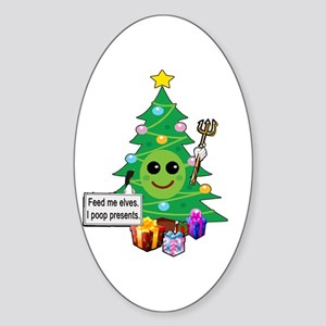 Feed Me Elves Sticker (Oval)