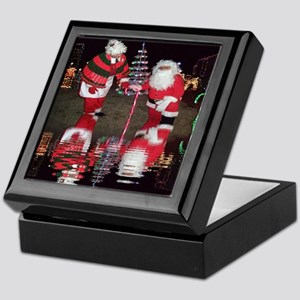 Christmas Santa Reflection Keepsake Box