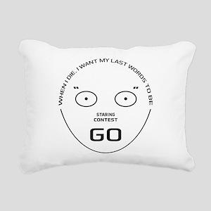 Staring Contest Rectangular Canvas Pillow