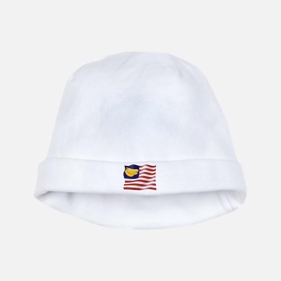 Banana Republic American Flag baby hat