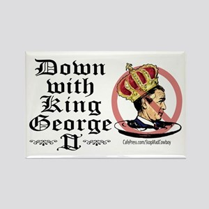 Down With King George Rectangle Magnet