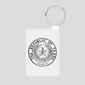 Secede Republic of Texas Aluminum Photo Keychain