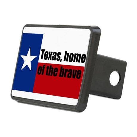 texas, home of the brave. Rectangular Hitch Cover