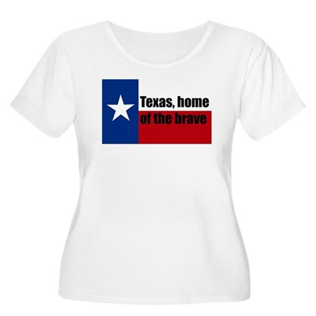 texas, home of the brave. Women's Plus Size Scoop