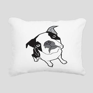 bterrier,black Rectangular Canvas Pillow