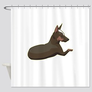 min-pin,png.png Shower Curtain