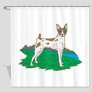 rat-terrier,png Shower Curtain