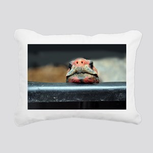 Curious Red Foot Tortois Rectangular Canvas Pillow