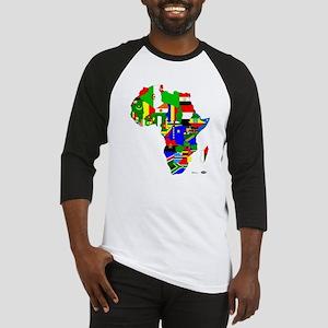 Africa FlagMap Baseball Jersey