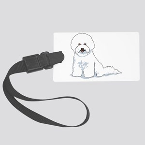 bichon-frise Large Luggage Tag