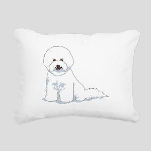bichon-frise Rectangular Canvas Pillow