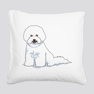 bichon-frise Square Canvas Pillow