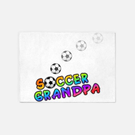 Soccer Grandpa.png 5'x7'Area Rug