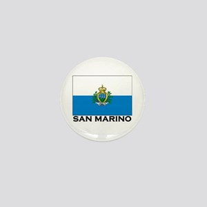 San Marino Flag Merchandise Mini Button
