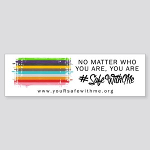 Safe With Me Flag (bumper) Bumper Sticker