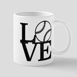 Love Baseball 11 oz Ceramic Mug