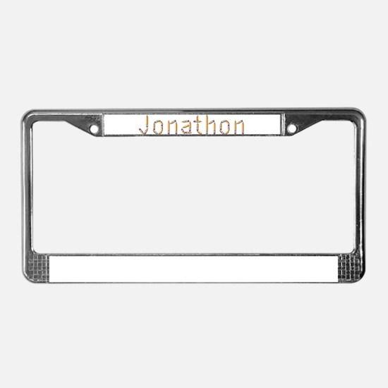 Jonathon Pencils License Plate Frame
