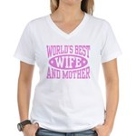 Best Wife and Mother Women's V-Neck T-Shirt
