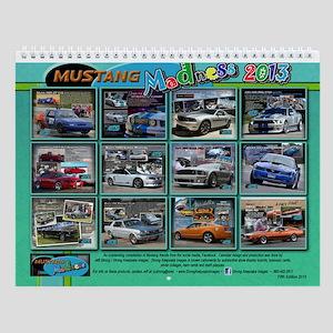 2013 Mustang MADNESS Wall Calendar
