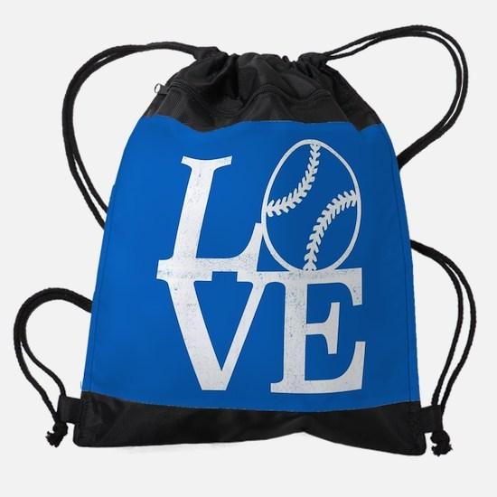 Love Baseball Drawstring Bag