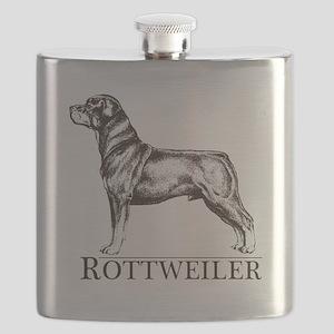 Rottweiler white Flask
