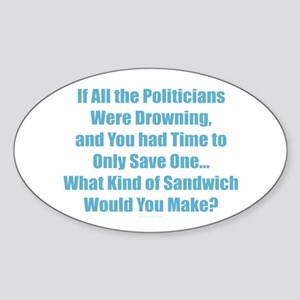 Political Sandwich Blue Sticker