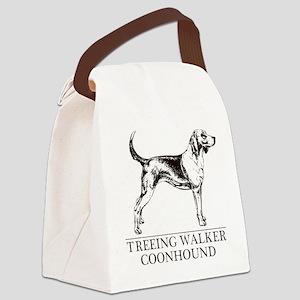 Treeing Walker Coonhound white Canvas Lunch Bag