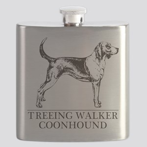 Treeing Walker Coonhound white Flask