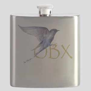 OBX purple martin Flask