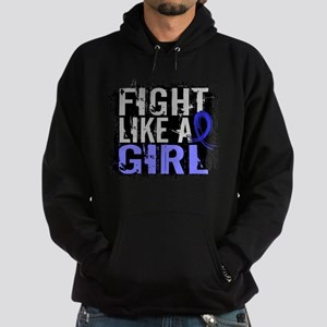 Licensed Fight Like a Girl 31.8 Colo Hoodie (dark)