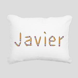 Javier Pencils Rectangular Canvas Pillow