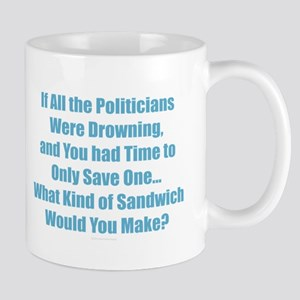 Political Sandwich Blue Mugs