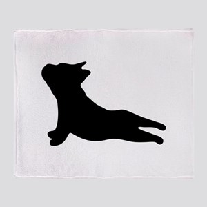 French Bulldog Yoga Throw Blanket