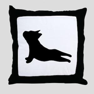 French Bulldog Yoga Throw Pillow