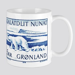 1976 Greenland Polar Bears Postage Stamp Mug