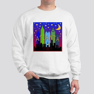 Atlanta Skyline nightlife Sweatshirt